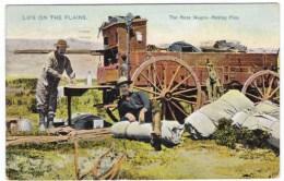 Cowboys Mess Wagon Making Pies, Old West American Range, C1900s Vintage Tucks #6018 'Life On The Plains' Postcard - United States