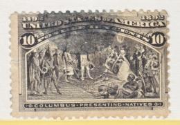 U.S. 237   Fault  Thin   (o)      COLUMBUS - 1893 – Chicago (United States)