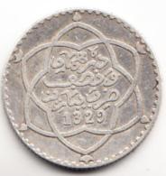 MARRUECOS 1911(1329). 1/4 DE RIAL. .PLATA ESCASA  . EBC  CN4467 - Maroc