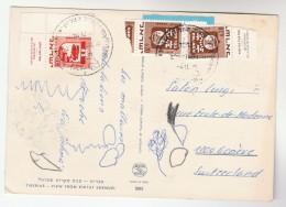 1971 ISRAEL COVER Stamps Pmk HA GALIL HA ELYON MOBILE POST OFFICE (postcard TIBERIUS ) To SWITZERLAND - Israel