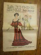 1902 La MODE Du Petit Journal    TOILETTES DE BAL Gravures Couleurs Sur Double-page Et Une - Verzamelingen