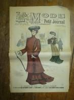 1901La MODE Du Petit Journal    TOILETTE DE VILLE, VÊTEMENT ELEGANT  Gravures Couleurs Sur Double-page Et Une - Vieux Papiers