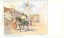 Cpa     -    Parade Du Vainqueur  Du Tournoi   ,animée        T154 - Spectacle