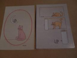 Humour  Lot De 2 Cartes ( Signée Schlote ) - Unclassified