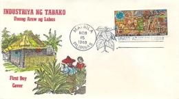 Philippines 1968 FDC 10 S. Tobacco Industry - Fabbriche E Imprese