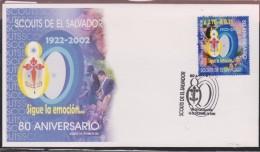 O) 1922 EL SALVADOR, SCOUTS- 1922, FDC XF - El Salvador
