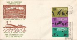 J) 1968 MEXICO, OLYMPIC GAMES, MEXICO 68, SPORTS, ATHENS GREECE, SPORTS PALACE, PRE OLYMPICS, SYMBOLS OF OLYMPIC SPORTS - Messico