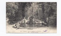 CPA 30 - MEYNES - Parc Du Château De Clausonne - TB PLAN Et TB ANIMATION Autour Fontaine Et Bassin - Otros Municipios
