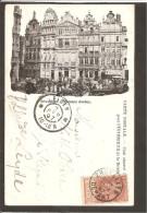 Bruxelles. Maisons Dorées. CARTE 1897 - Bélgica