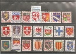 21 BLASONS  Oblitéré - Francia
