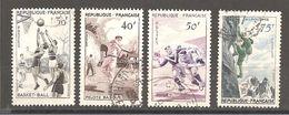 France Série 1072 à 1075 Oblitéré   Année 1956 - France
