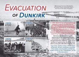 LIBERIA 2015 - 2eme Guerre Mondiale, évacuation De Dunkerck En 1940 - Feuillet Neuf  // Mnh - Seconda Guerra Mondiale