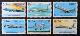 """COMPAGNIE AERIENNE """"CUBANA"""" 1988 - OBLITERES - YT 2849/54 - MI 3184/89 - Used Stamps"""