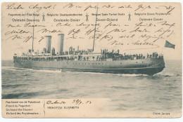 Entier Postal Armoiries PAQUEBOT Princesse Elisabeth + TP Compléments Pellens OOSTENDE 1913 Vers Allemagne - XX459 - Stamped Stationery