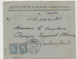 Tur106 / 1 Pa. Ausgabe Von 1093 Im Paar Mit 2-facher Entwertung - 1837-1914 Smyrna