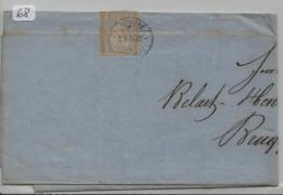 Sitzende Helvetia/Helvétie Assise Nr. 28 2c - Brief - Von Lausanne Nach Brugg - Briefe U. Dokumente