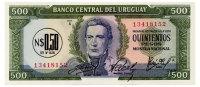 URUGUAY 0.5 NUEVO PESO ND(1975) Pick 54 Unc - Uruguay