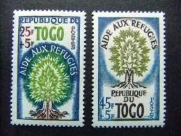 TOGO REPUBLIQUE TOGOLAISE 1960  AÑO Del REFUGIADO Yvert Nº 307 /308 ** MNH - Refugiados