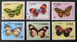 PAPILLONS 1989 - OBLITERES - YT 2914/19 - MI 3265/70 - Cuba