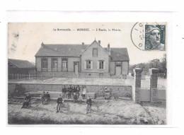 61 - VAUNOISE : L'école , La Mairie - Other Municipalities