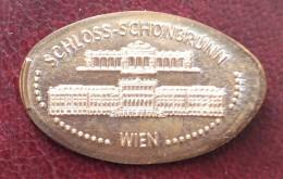 Austria, Jeton Made From 5 C. Coin, Vienna, Schonbrunn Palace - Souvenirmunten (elongated Coins)