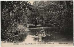 77 - B31195CPA - LES ORMES SUR VOULZIE - La Passerelle De Chativeau - Pecheur - Parfait état - SEINE-ET-MARNE - France