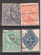 Pays Bas Nederland Netherlands 1923 Série,Yvert N° 107 / 110 , Obl  TB - 1891-1948 (Wilhelmine)