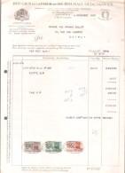 Facture - BOUGIES DE LA COUR ET DE ROUBAIX OEDENKOVEN - Anvers - 1950 - Droguerie & Parfumerie