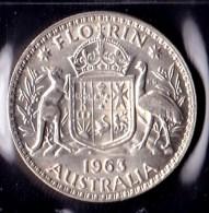 Australia 1963 Florin AUNC - Monnaie Pré-décimale (1910-1965)