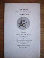 ETATS UNIS:PROGRAMME SOUVENIR L´EXPOSITION DE BRUXELLES DE 1958-OBLITERATION DE DETROIT +POSTMASTER GENERAL_SIGNATURE - Autres