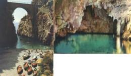 Costiera Amalfitana - Lotto 2 Cartoline SPIAGGIA DEL FURORE + GROTTA DI SMERALDO, Anni '60/70 - OTTIMO M68 - Salerno
