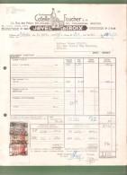 Facture - Etablissements Cotelle & Foucher S.A. JAVEL LACROIX - Bruxelles - 1950 - Droguerie & Parfumerie