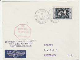 Inaugural Flight 1957 Auckland Noumea - Caledonia Calédonie - Nouvelle-Zélande