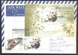 Australia 1996 Air Mail Cover: Fauna Bear Bär Oso Orso Ours The Giant Panda (Ailuropoda Melanoleuca) Darling Harbour - Bären