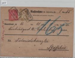 Sitzende Helvetia/Helvétie Assise Nr. 37 2c + 38 10c N.N. Zürich Nach Pfäffikon - 1862-1881 Helvetia Assise (dentelés)