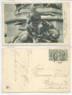 TRENTO (075) - Monumento A Dante Alighieri. La Figura Di Minos (Prof. Cesare Zocchi) - Fp/Vg 1919 - Trento