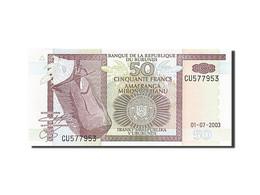 Burundi, 50 Francs, 1993-1997, KM:36d, 2003-07-01, NEUF - Burundi