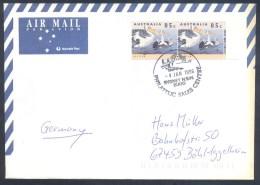 Australia 1996 Air Mail Cover: Fauna Birds Vögel Oiseaux Pelican Pelikan Pellicano Pelícano Bridges Sydney Bridge - Pelicans