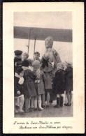L´arrivée De SAINT-NICOLAS En AVION - Aankomst Sint Niklaas Per Vliegtuig - Publicité Chocolat Martougin - Saint-Nicolas