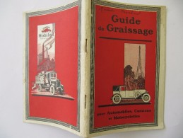 Automobile  - Guide De Graissage MOBILOIL 64 Pages - Auto