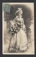 DF / CELEBRITÉS / JANE HADING ACTRICE ET CHANTEUSE FRANÇAISE / PHOTO REUTLINGER / CIRCULÉE EN 1904 - Entertainers