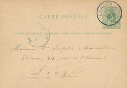Entier Postal Lion Couché LANDEN 1884 - Origine Manuscrite WAMONT - Signé Jean Van Roy , Organiste - XX467 - Entiers Postaux