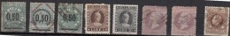 Italie  Timbres Fiscaux  Marca Da Bollo  8 Valeurs - 1878-00 Umberto I