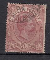 Italie    Colis Postaux  YT N°3 50c Rose Carmin - 1878-00 Humbert I.