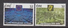Ireland 1994 European & Irish Parlament 2v Used (29934) - 1949-... Republiek Ierland