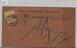 Sitzende Helvetia/Helvétie Assise Nr. 39 15c N.N. Von Aussersihl Nach Zürich - 1862-1881 Sitzende Helvetia (gezähnt)