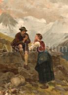 Large Original Illustration / Die Gartenlaube 1889 / Artist Signed / Mathias Schmid / Couple / Lockvogel - Estampes & Gravures