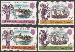 Tristan Da Cunha. 1970 Crawfish Industry. MH Complete Set SG 133-136 - Tristan Da Cunha