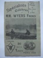 Catalogue De Pêche WYERS Paris 1900 Pour La Pêche En Eau Douce Et En Mer - Nature