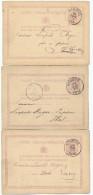 12 X Entier Postal Lion Couché Et Armoiries NINOVE 1876/1906 - Pour étude Des Cachets - XX470 - Entiers Postaux